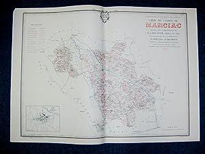 Carte du Canton de Marciac (Atlas Général du Gers): PHIQUEPAL D'ARUSMONT ; DELATTE, G...