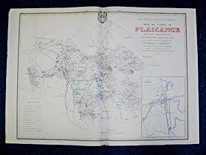 Carte du Canton de Plaisance (Atlas Général du Gers): PHIQUEPAL D'ARUSMONT ; DELATTE,...