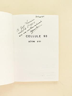 Cellule 93. Détenu 6151. 2 mai 1943 - 12 janvier 1944. Citadelle St Jean Pied de Port - Fort...