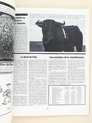 Les Cahiers de la corrida. Automne 1979 ( n° 3 ). Interview : Maribel Atenzar. El viti ganadero...