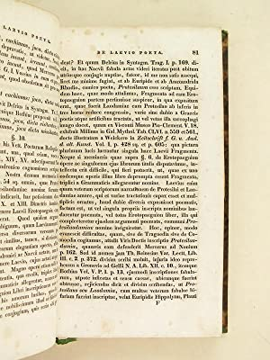 Poetarum Latinorum Hostii, Laevii, C. Licinii Calvi, C. Helvii Cinnae, C. Valgii Rufi, Domitii ...