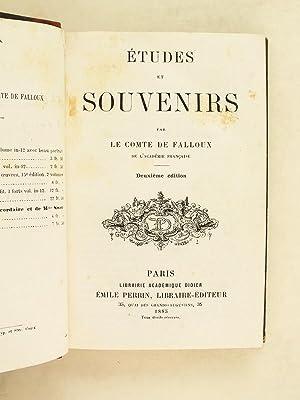 Etudes et Souvenirs.: FALLOUX, Comte de