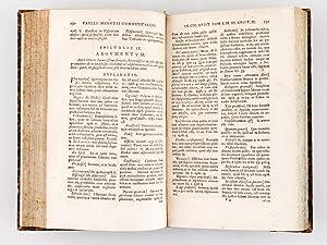 Paulli Manutii Commentarius in M. Tullii Ciceronis Epistolas ad Diversos - Accedunt eiusdem Scholia...