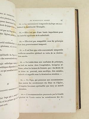 Oeuvres de Mgr Gerbet Evêque de Perpignan (2 Tomes - Complet) Tomes I et II : Mandements et ...