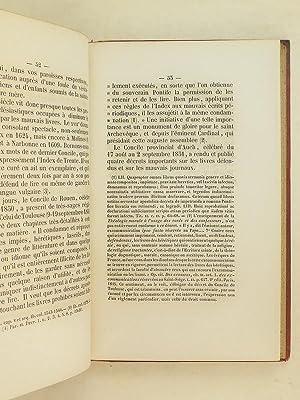 Instruction Pastorale de Monseigneur l'Evêque de Luçon sur l'Index des ...
