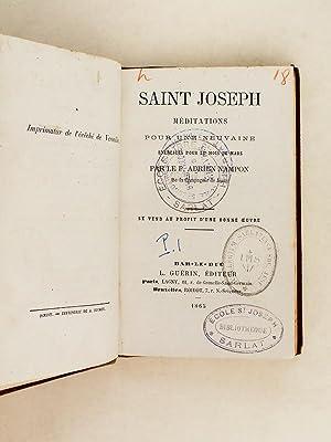 Saint Joseph. Méditations pour une neuvaine, exercices pour le mois de Mars.: NAMPON, P. ...