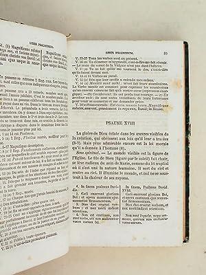 Les Psaumes traduits de l'Hébreu en latin, analysés et annotés en fran&...