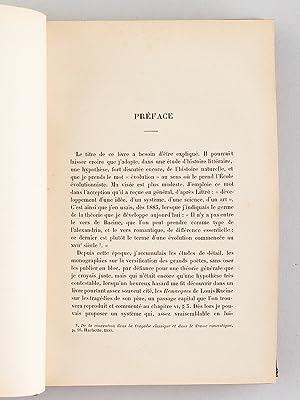 L'Evolution du Vers français au dix-septième siècle. [ Edition originale ...