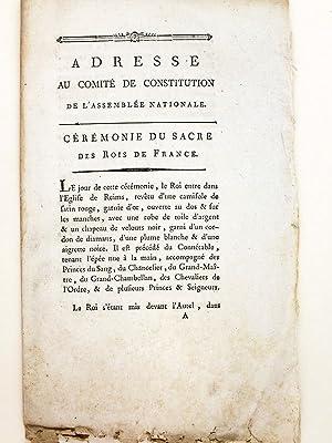Adresse au Comité de Constitution de l'Assemblée Nationale. Céré...