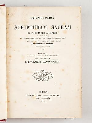 Commentaria in Scripturam Sacram. Tome 20 : Epistolarum Canonicarum: LAPIDE, Cornelius A ; CRAMPON,...
