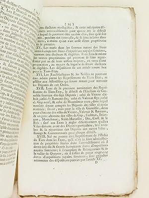 Procès Verbal de l'Assemblée Générale des Trois Ordres de la ...