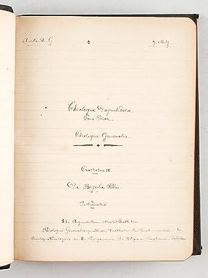 Theologia Dogmatica [ Manuscrit ] Tractatus IV : De Regula Fidei ; Tractatus V : De deo divinisue ...