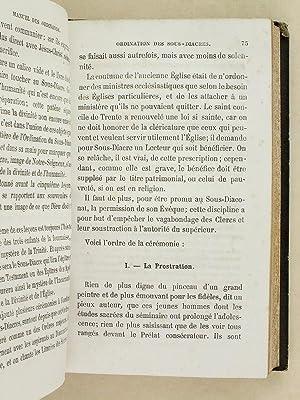 Nouveau Manuel des Ordinands ou Explication des Prières et des Cérémonies de l...