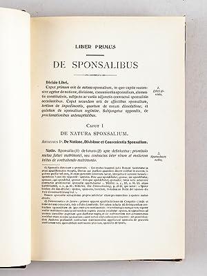 De Sponsalibus & Matrimonio. Tractatus canonicus & theologicus.: DESMET, Aloysio