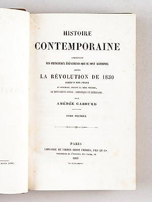 Histoire contemporaine comprenant les principaux événements qui se sont accomplis ...