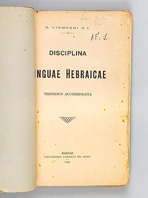 Disciplina Linguae hebraicae.: GISMONDI, H.