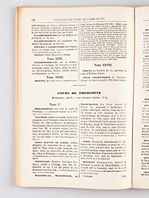 Catalogue général des ouvrages édités par l'abbé Migne. ...
