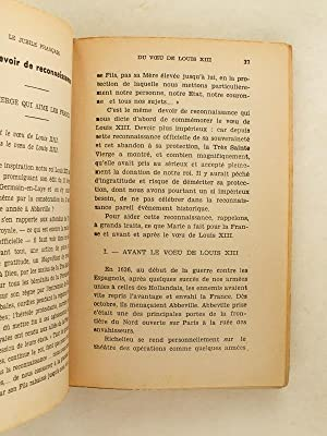 Le Jubilé Français du Voeu de Louis XIII 15 août 1937 - 15 août 1938. Son...