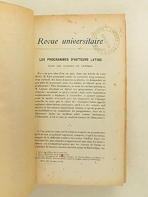 Revue Universitaire Troisième Année. Tome deuxième ( 1894 ) Education - ...