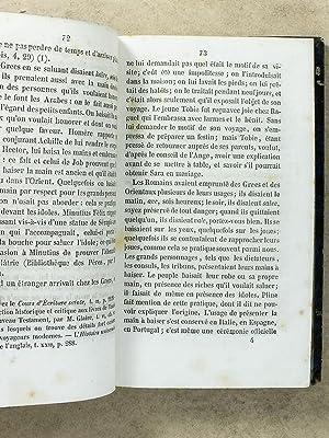 Correspondance d'un ancien directeur de séminaire avec un jeune prêtre , sur la ...