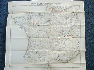 Positions des Armées allemandes et françaises au commencement de l'armistice le ...