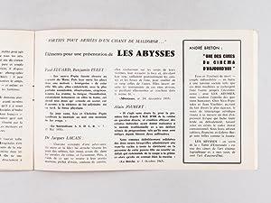 Rencontre de Carcassonne 31 octobre 2 novembre 1969. Le Cinéma Surréaliste. Programme...
