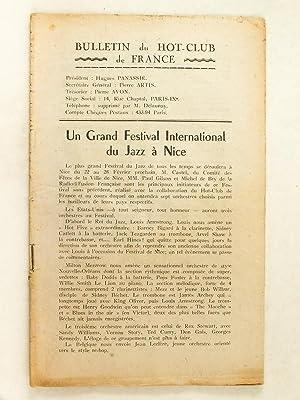 Bulletin du Hot-Club de France. Un Grand: PANASSIE, Hughes ;