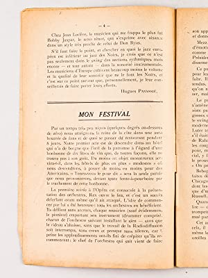 Bulletin du Hot-Club de France. Après le Festival de Nice [ 1948 ]: PANASSIE, Hughes ; ...