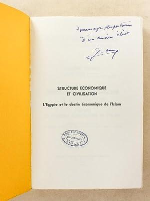 Structure économique et civilisation - L'Egypte et le destin économique de l&#...