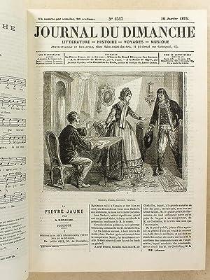Le Journal du Dimanche , Littérature - Histoire - Voyages - Musique , Année 1875 ( du...
