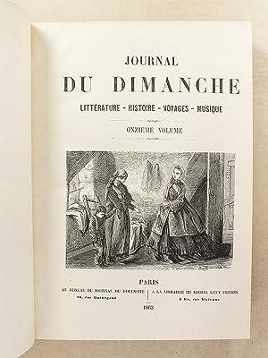 Le Journal du Dimanche , Littérature - Histoire - Voyages - Musique , Année 1863 ( du...