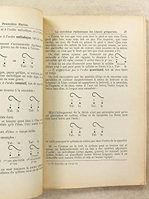 Méthode de Chant Grégorien , d'après les principes rythmiques de Solesmes...