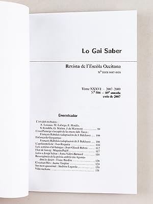 Lo Gai Saber. Revista de l'Escola Occitana (16 Numéros : Du n°506 Estiu de 2007 au ...