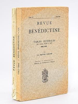 Revue Bénédictine. Table des Matières Années I-XXI : 1884 - 1904 [ Avec...