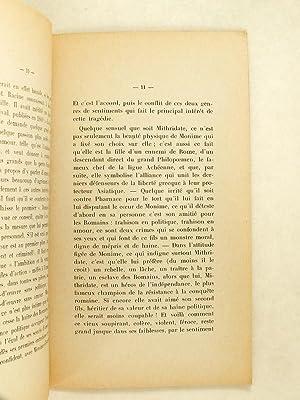 Conférence sur le Mithridate de Racine, faite au Grand-Théâtre de Bordeaux le ...