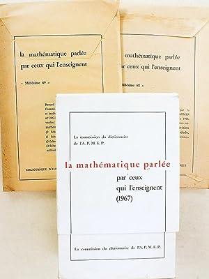 La mathématique parlée par ceux qui l'enseignent: Commission du dictionnaire