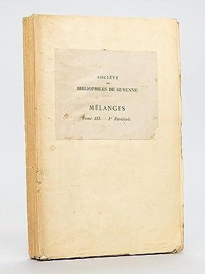 Voyage du Duc de Richelieu de Bordeaux à Bayonne 1759. Récit en vers et en prose par ...