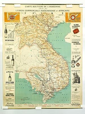 Carte Routière de l'Indochine, offerte par l'Union Commerciale Indochinoise et ...