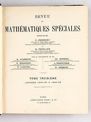 Revue de Mathématiques Spéciales. 6e Année : octobre 1895 - septembre 1896 ; ...