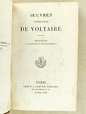 Dialogues et Entretiens philosophiques [ Oeuvres complètes de Voltaire, Tome 35 ]: VOLTAIRE