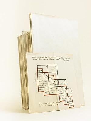 """Lot de 40 cartes d'Etat-Major """"à remettre aux Officiers Supérieurs et aux ..."""