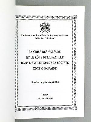 La crise des valeurs et le rôle de la famille dans l'évolution de la sociét&...