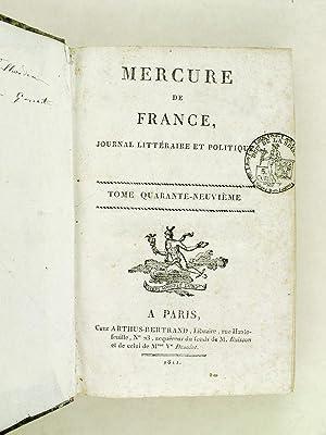 Mercure de France. Journal Littéraire et Politique. Tome 49 [ N° DXXXIII : 5 octobre ...