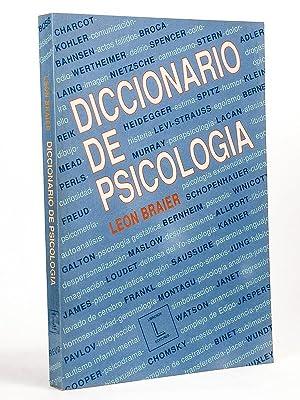 Diccionario de psicologia. [ Livre dédicacé par l'auteur ]: BRAIER, Leon
