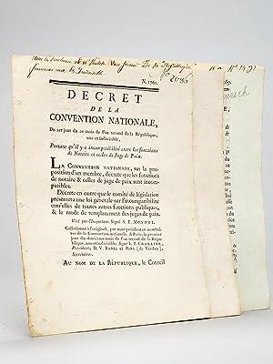 3 décrets de la Révolution Française sur les Notaires ] Décret de la ...