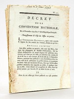 5 décrets de la Révolution Française ] Décret de la Convention ...