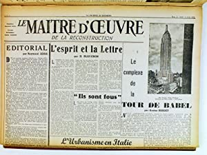 Le Maître d'Oeuvre de la Reconstruction Française (Du n°1 de la 3e Ann&eacute...