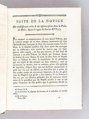 Dictionnaire Universel de Police (Tome Troisième : C - F). Contenant l'Origine et les ...