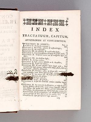 Continuatio Praelectionum theologicarum Honorati Tournely, sive Tractatus De universa Theologia ...