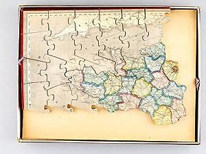 Atlas géographique [ Carte de la France en puzzle de bois ]: Anonyme